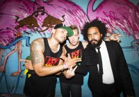 Major Lazer pose for a portrait during the Notting Hill Carnival in London, United Kingdom on August 27th 2012 // Dan Wilton/Red Bull Content Pool